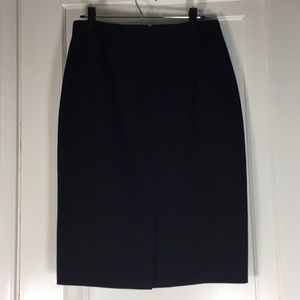 Banana Republic Solid Black Pencil Skirt Sz 10